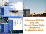 Windows XP PRO SP3 x86 Royale/Zune Style Integrated September 2008
